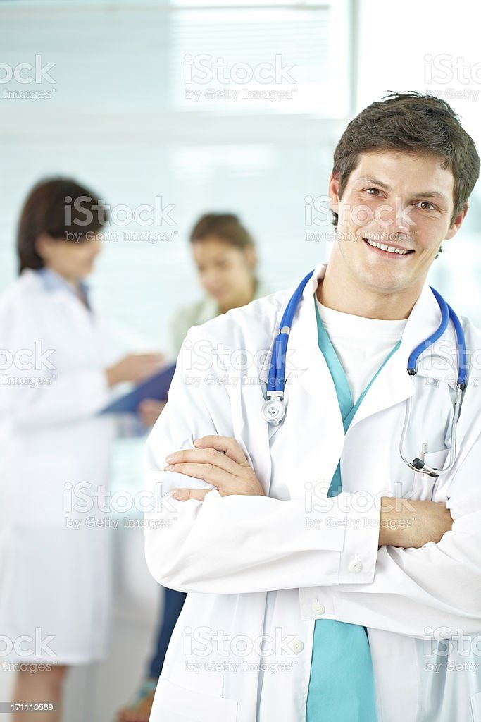 Young general practitioner royalty-free stock photo