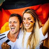 Young Germany supporters at stadium