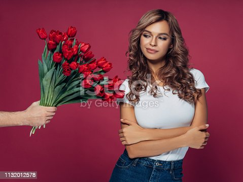 1129577106 istock photo Young girl accepting apology 1132012578