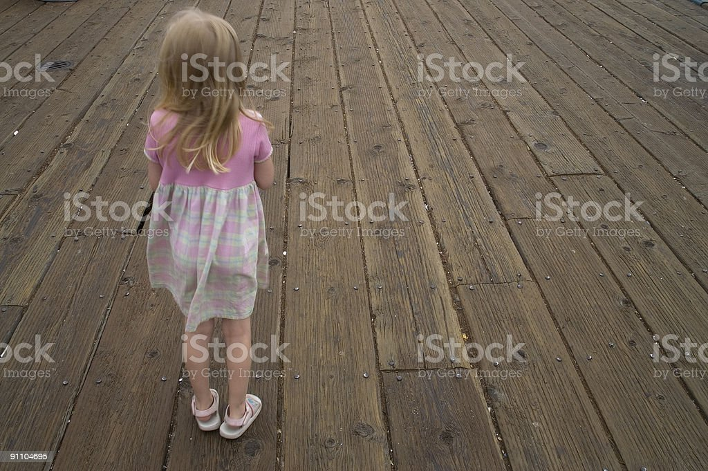 young girl alone stock photo