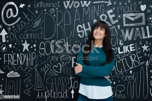 istock Young girl and social networks 169937645