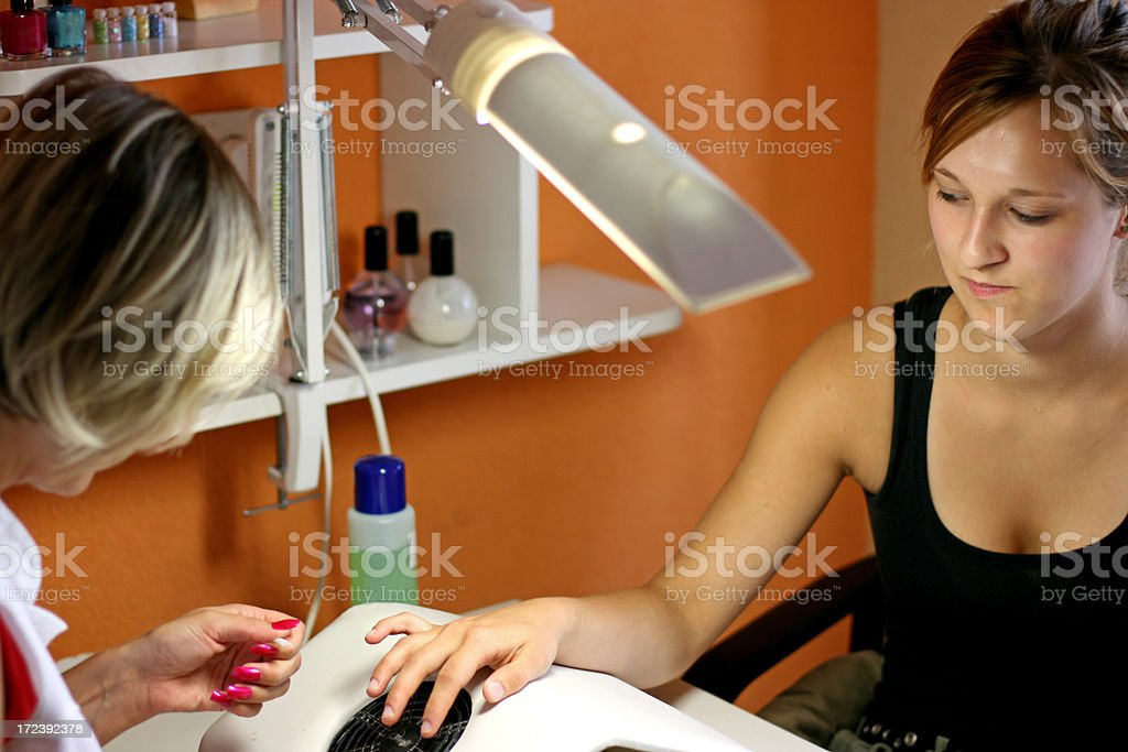 Young girl at the beauty salon royalty-free stock photo