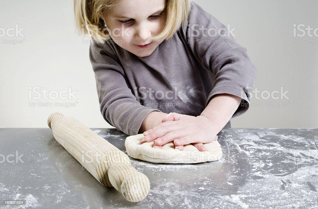Young Girl Baking stock photo