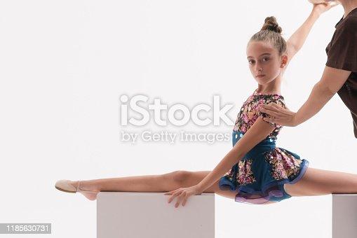 466300721 istock photo Young girl ballerina dancer learning ballet dance 1185630731
