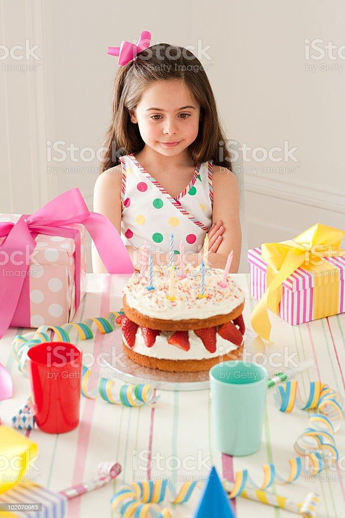Young girl celebrating birthday royalty-free stock photo