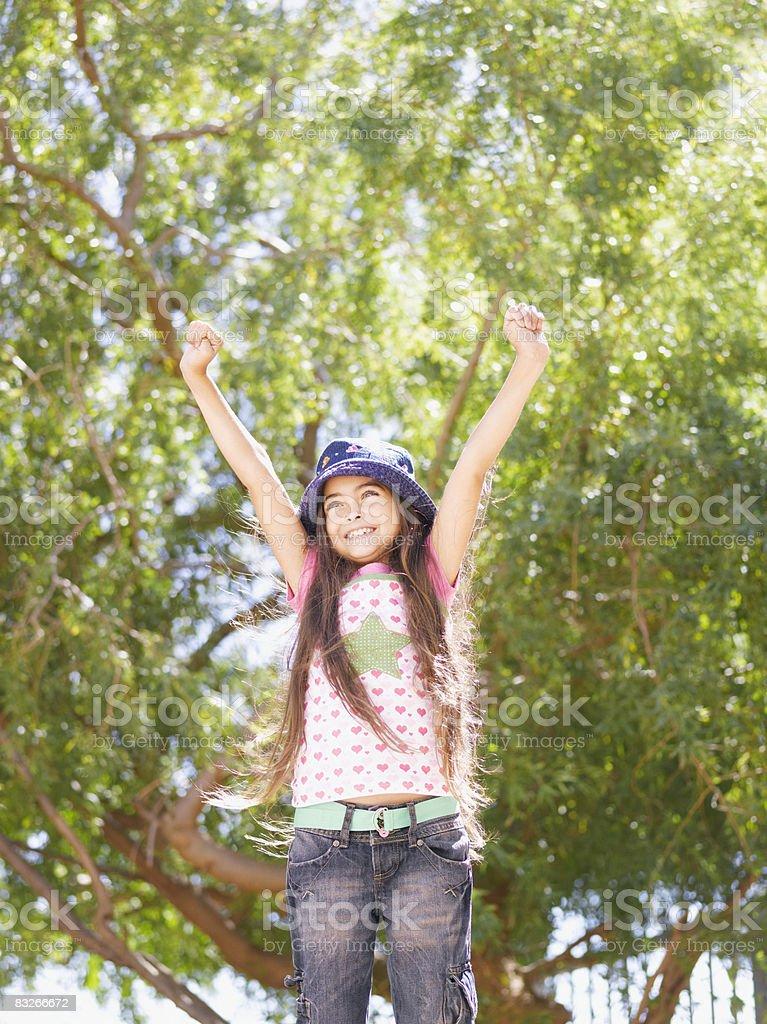Młoda dziewczynka wiwatują zbiór zdjęć royalty-free