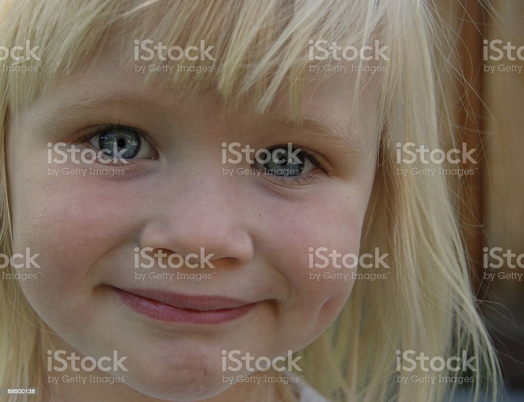 Young Girl Close-up stock photo