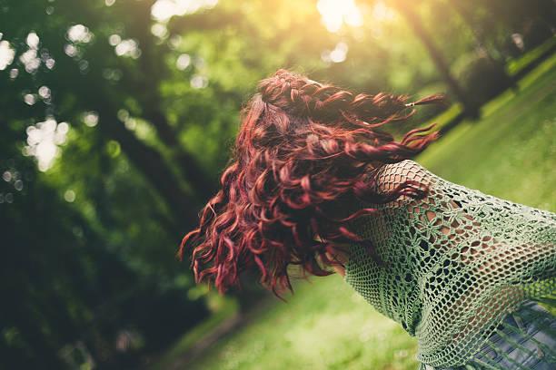 young girl dancing outdoors - jugendweihe 2016 stock-fotos und bilder