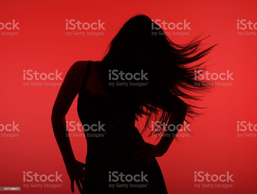 Young girl dancing stock photo