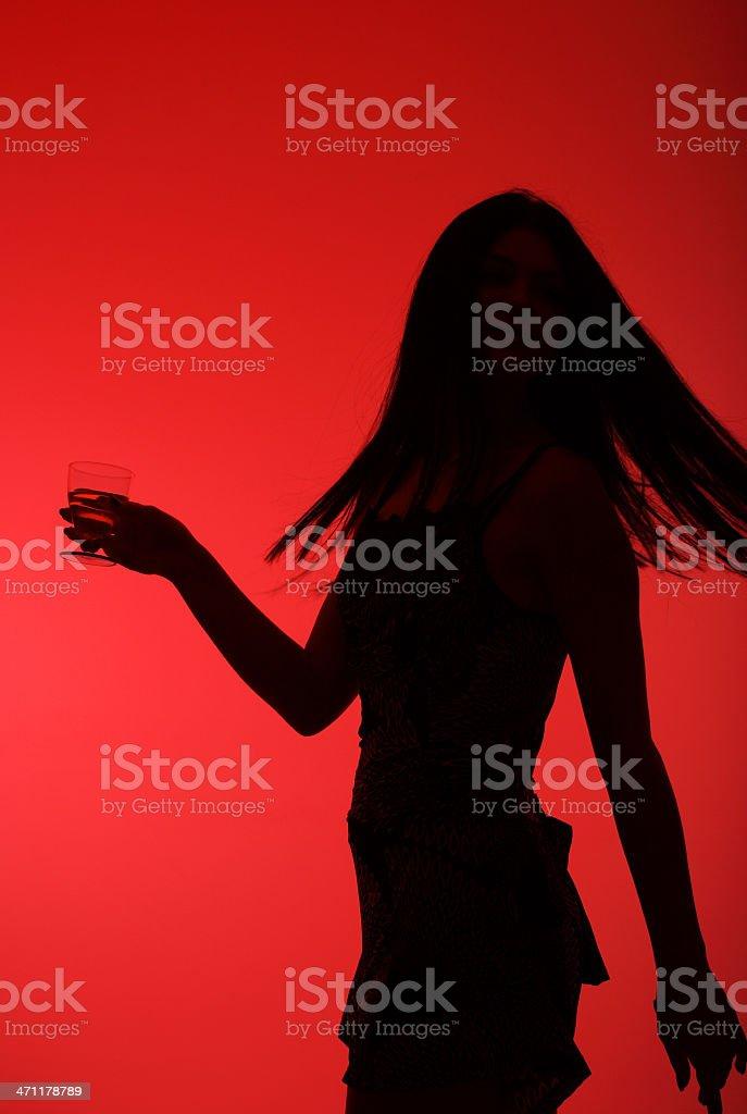Young girl dancing royalty-free stock photo