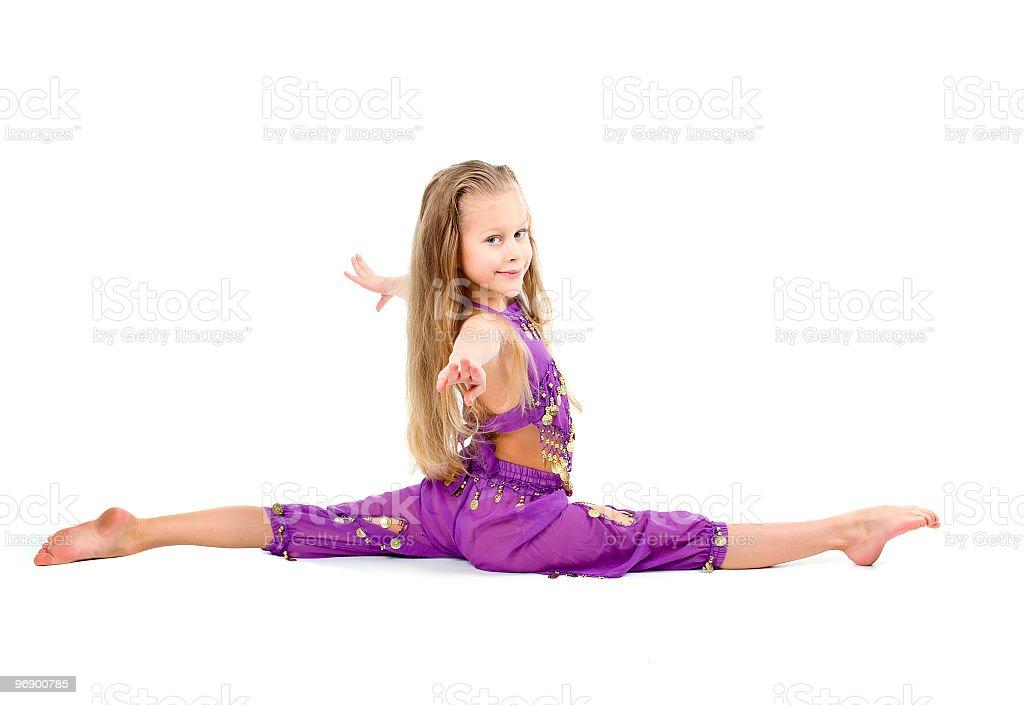 young girl doing gymnastics royalty-free stock photo