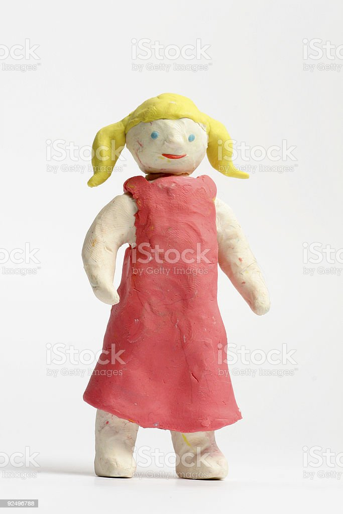 Young girl from clay royalty-free stock photo