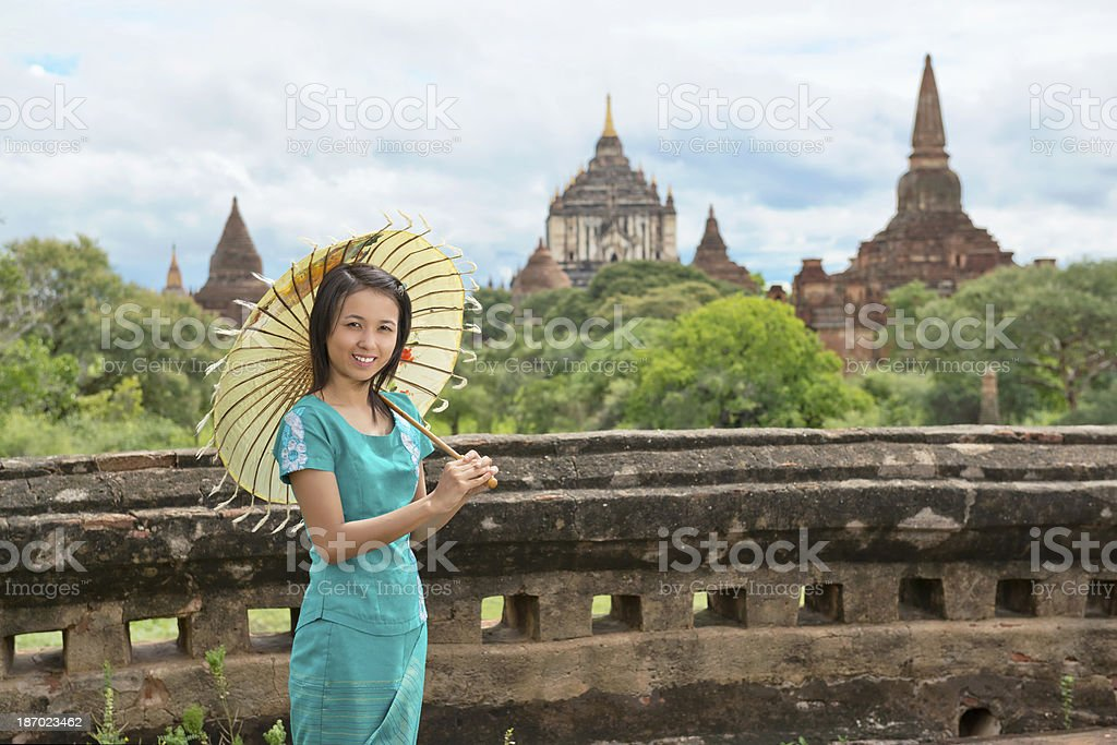 Young Girl From Mandalay royalty-free stock photo