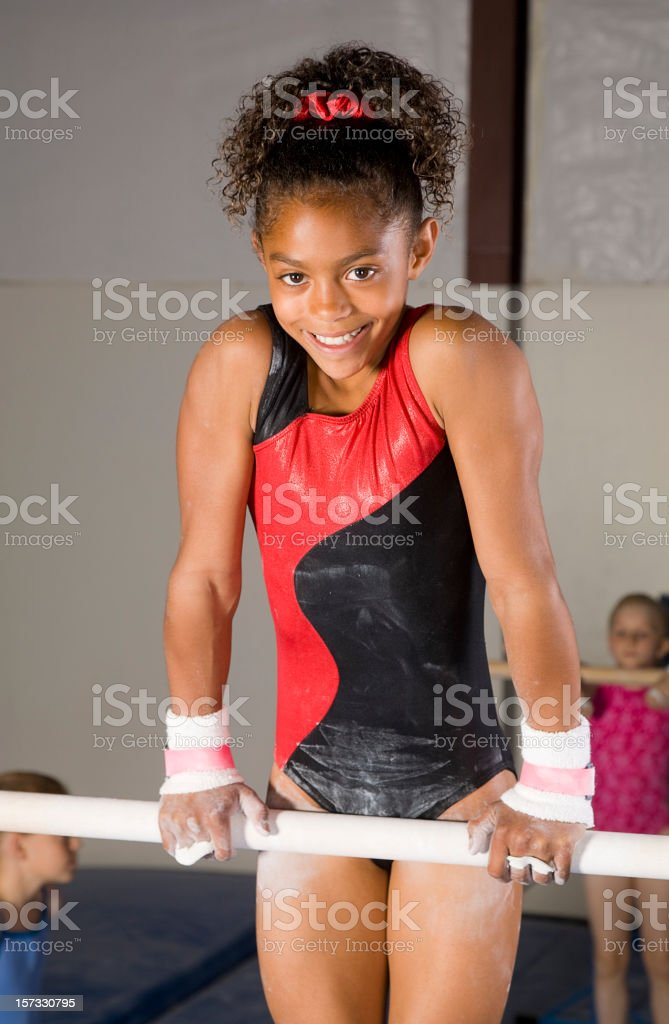 Young Girl Gymnast royalty-free stock photo