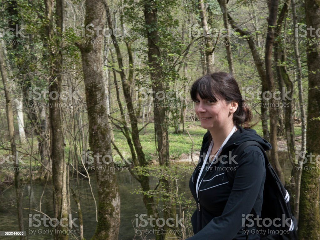 Young Girl Hiking royalty-free stock photo