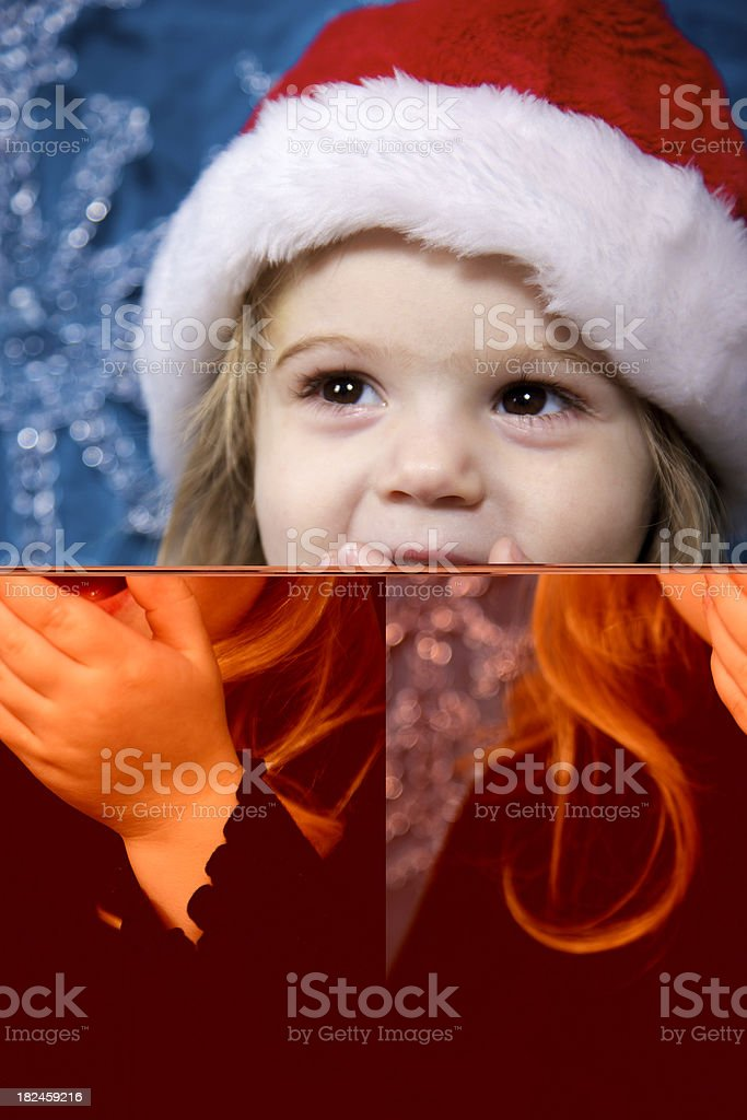 young girl holiday fun royalty-free stock photo