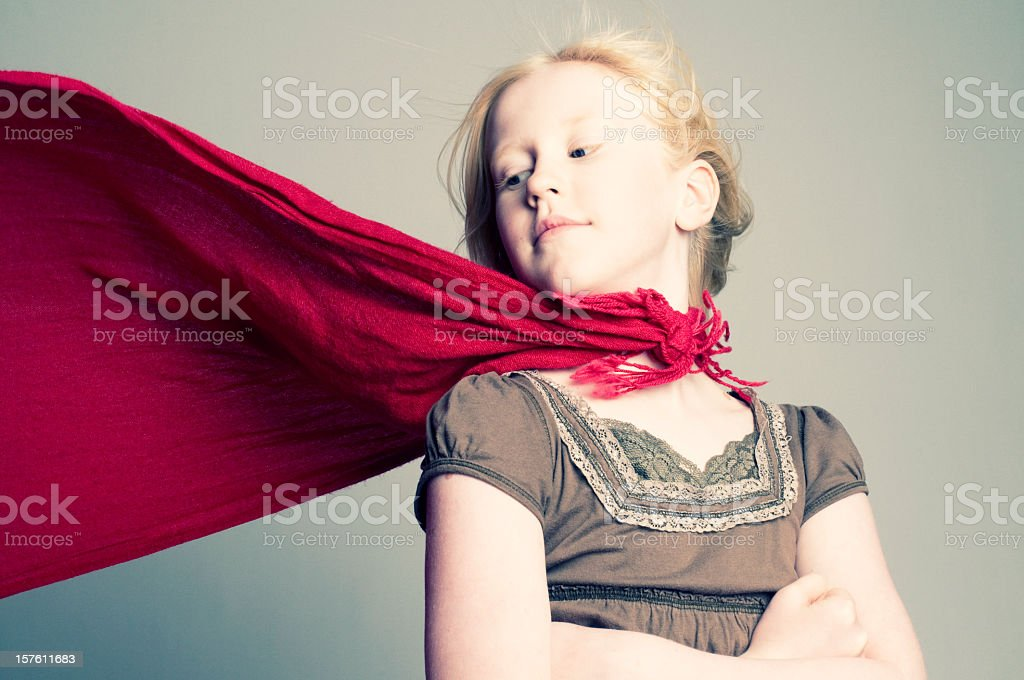 A young girl in a studio photograph stock photo