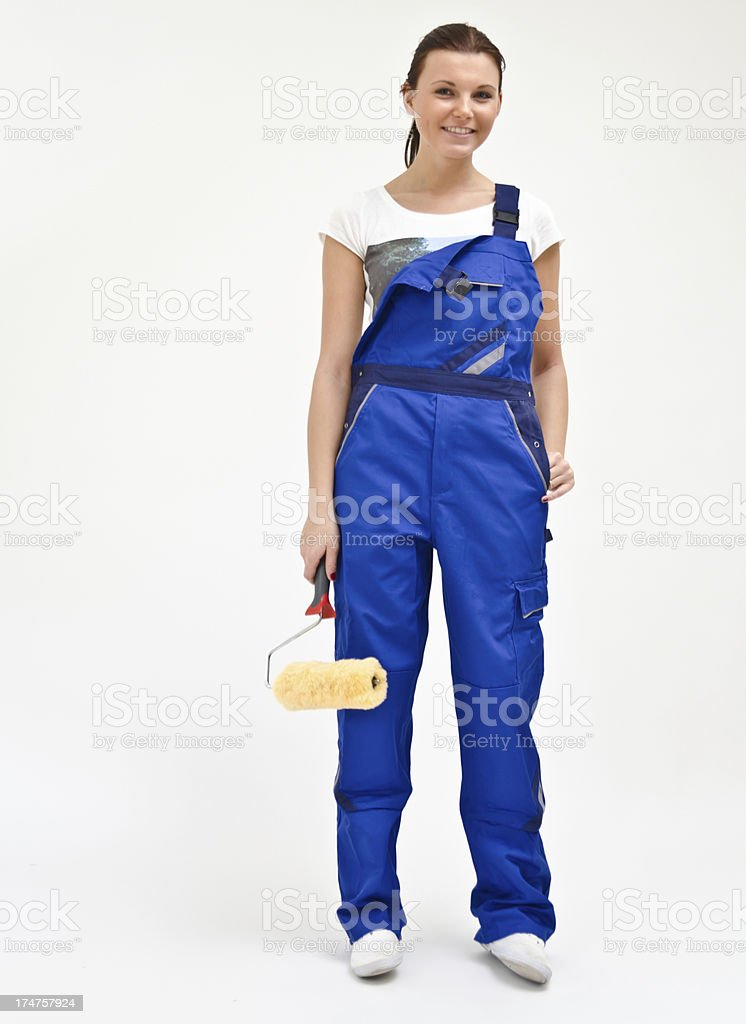 Young girl in bluey stock photo