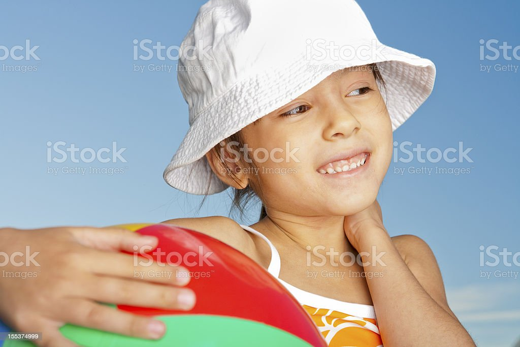 Young girl in her bathing suit royalty-free stock photo