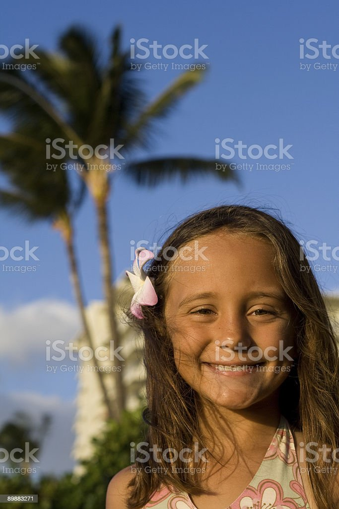 Young Girl In Maui royalty-free stock photo