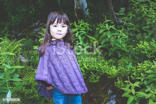istock Young girl in the Alps 976566608