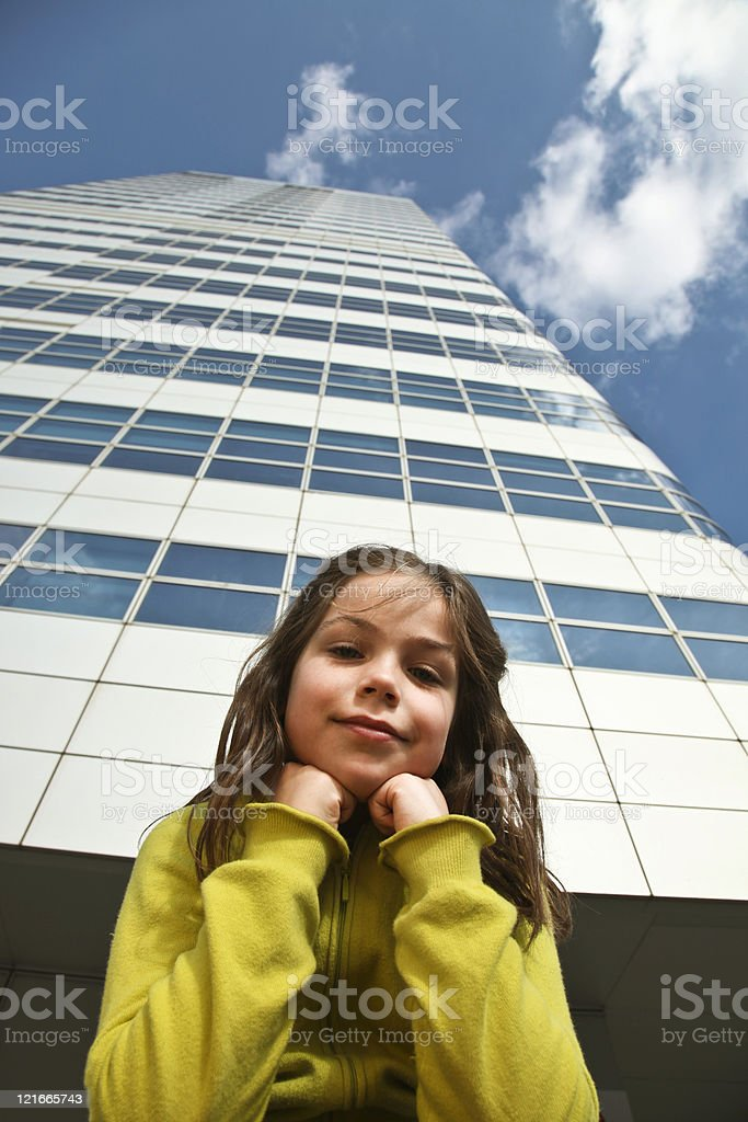 Young girl in the city royalty-free stock photo