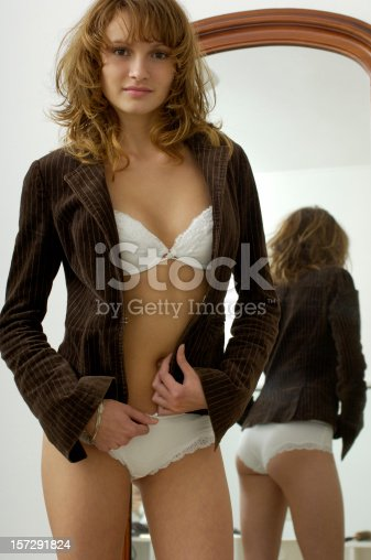 istock Young girl in the mirror 157291824