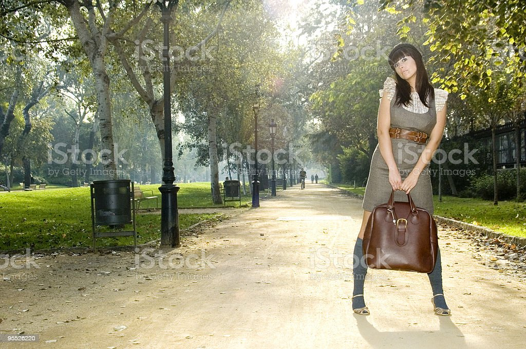 Young girl in the park royalty-free stock photo