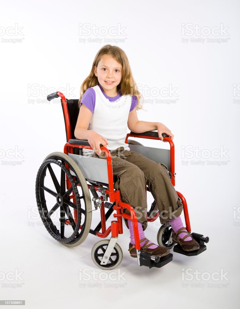 Young Girl in Wheelchair stock photo
