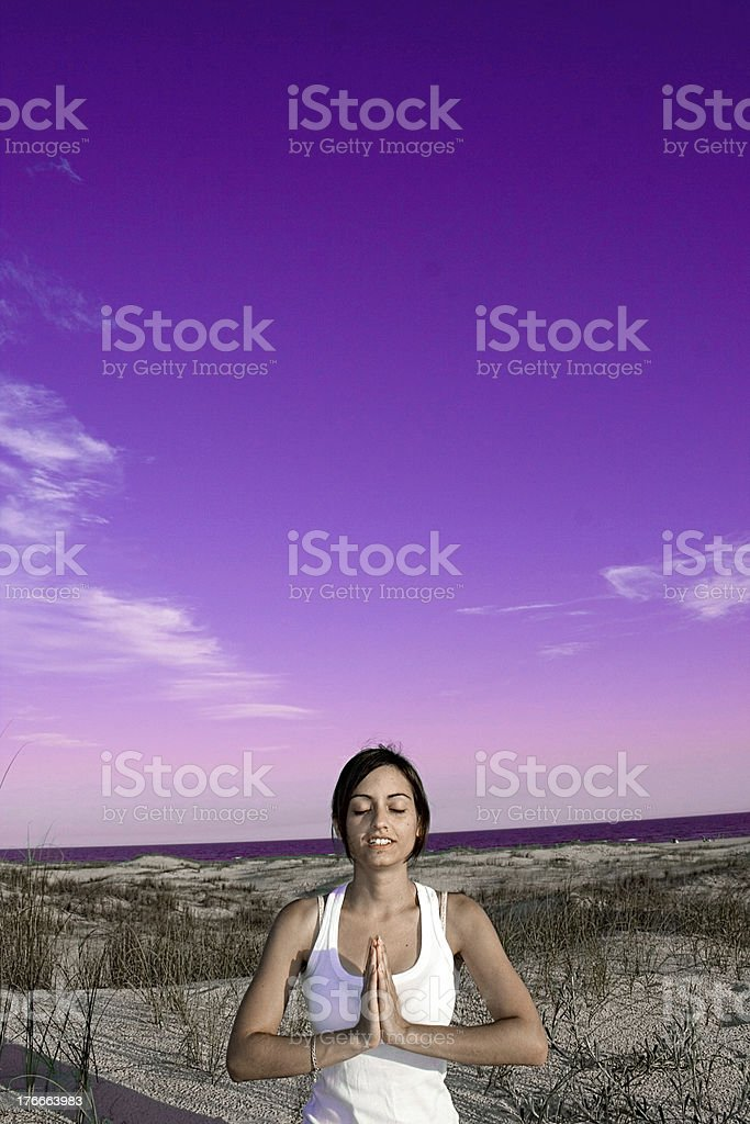 Young Girl in Yoga Position royalty-free stock photo