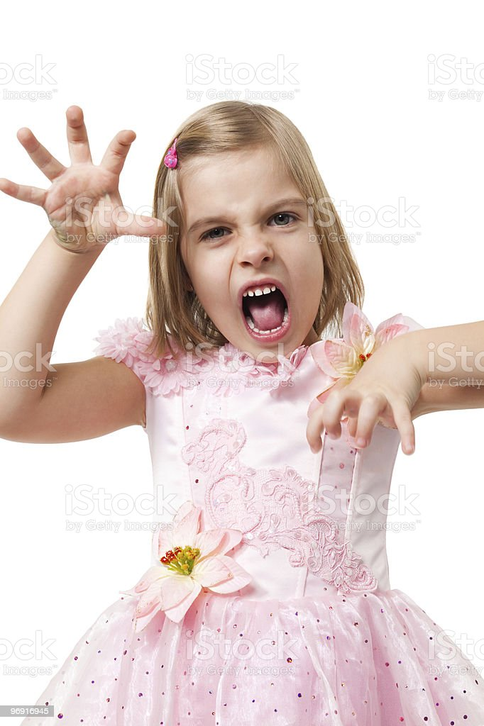 young girl like animal royalty-free stock photo