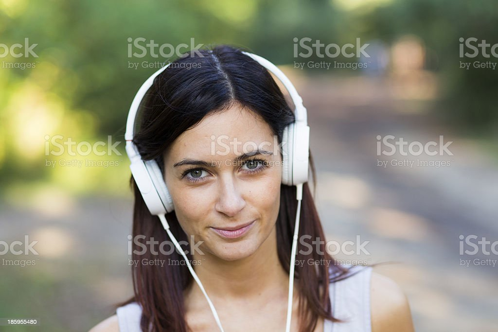 Young Girl listening music royalty-free stock photo