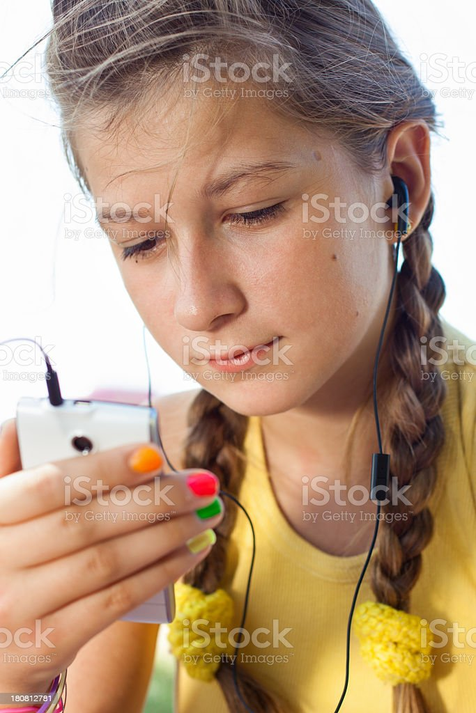 Young Girl Listening To Music royalty-free stock photo