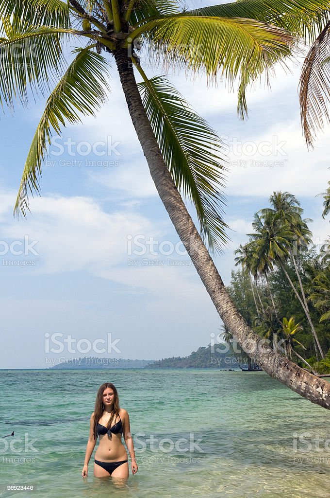 Young girl on island royalty-free stock photo