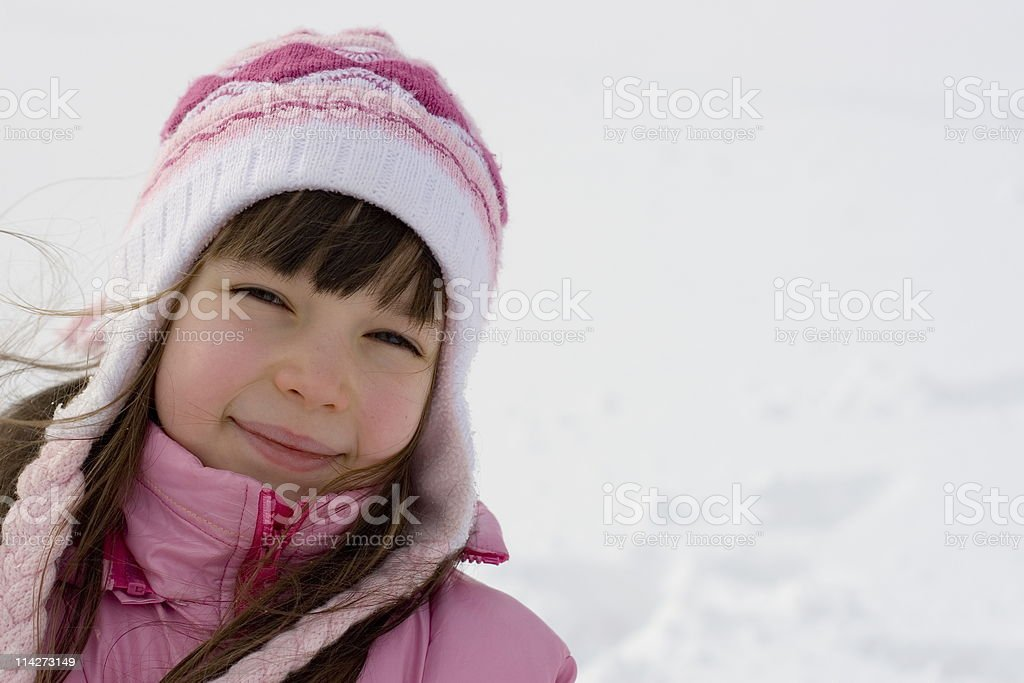 Young Girl On Snow royalty-free stock photo