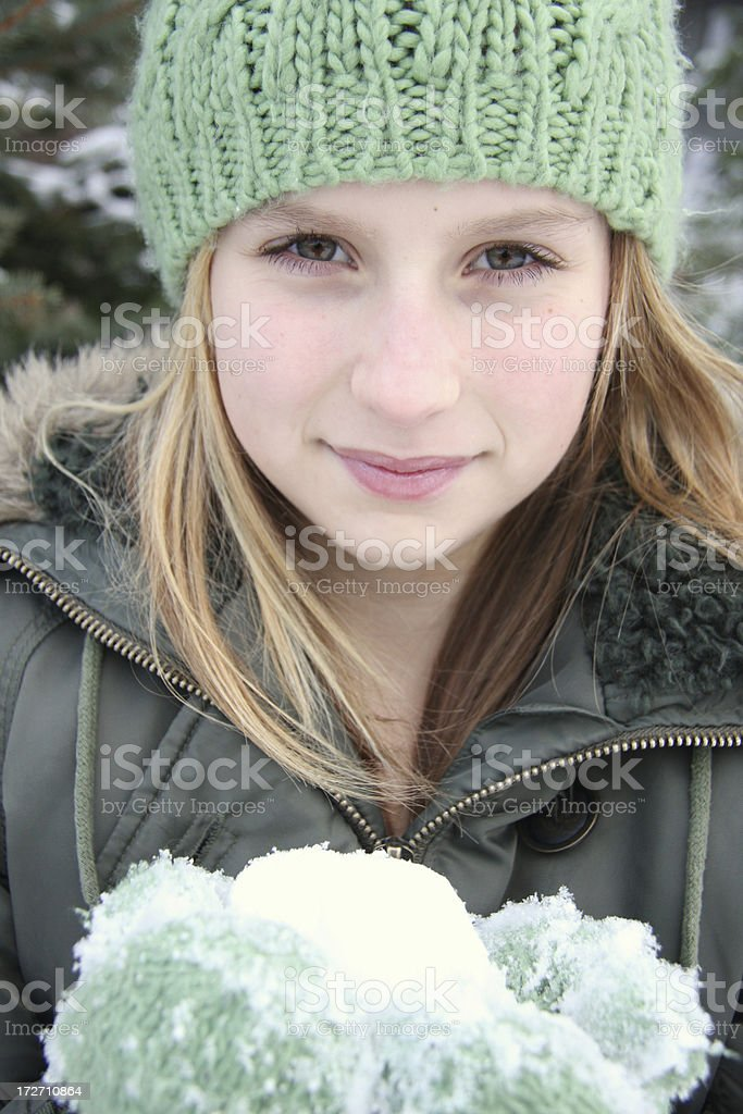 Young Girl on Winter's Day royalty-free stock photo