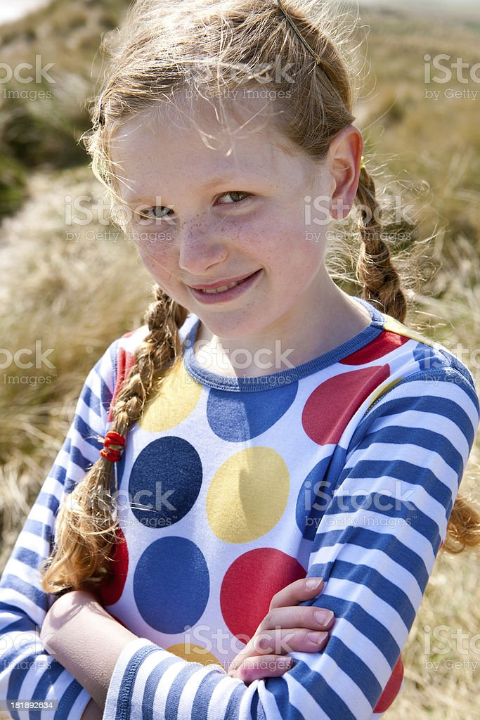 Young Girl Outdoors royalty-free stock photo