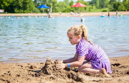 Mobilestock Little Girls Beach Sand Stock Photos, Pictures