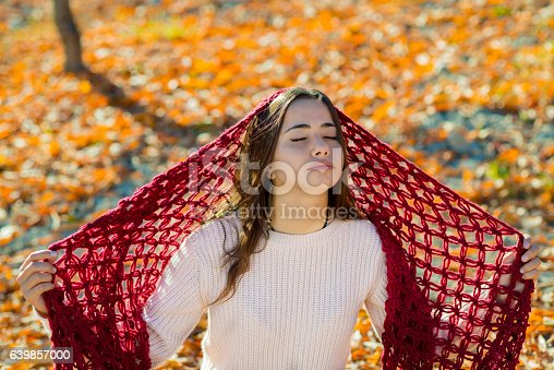 istock Young girl portrait in the fall 639857000