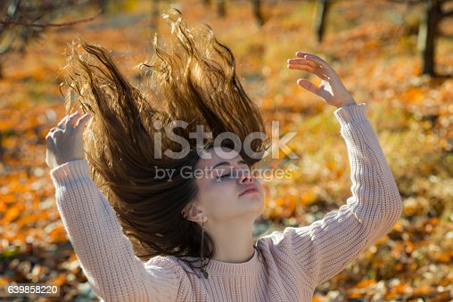 istock Young girl portrait in the fall 639858220