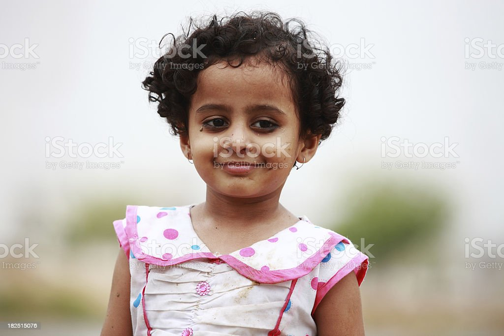 Young Girl Portrait Rainwater Dirty Wet Face stock photo