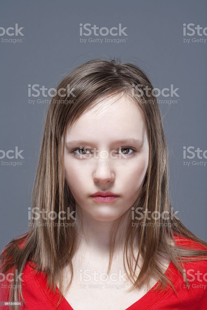 young girl posing as a model royalty-free stock photo