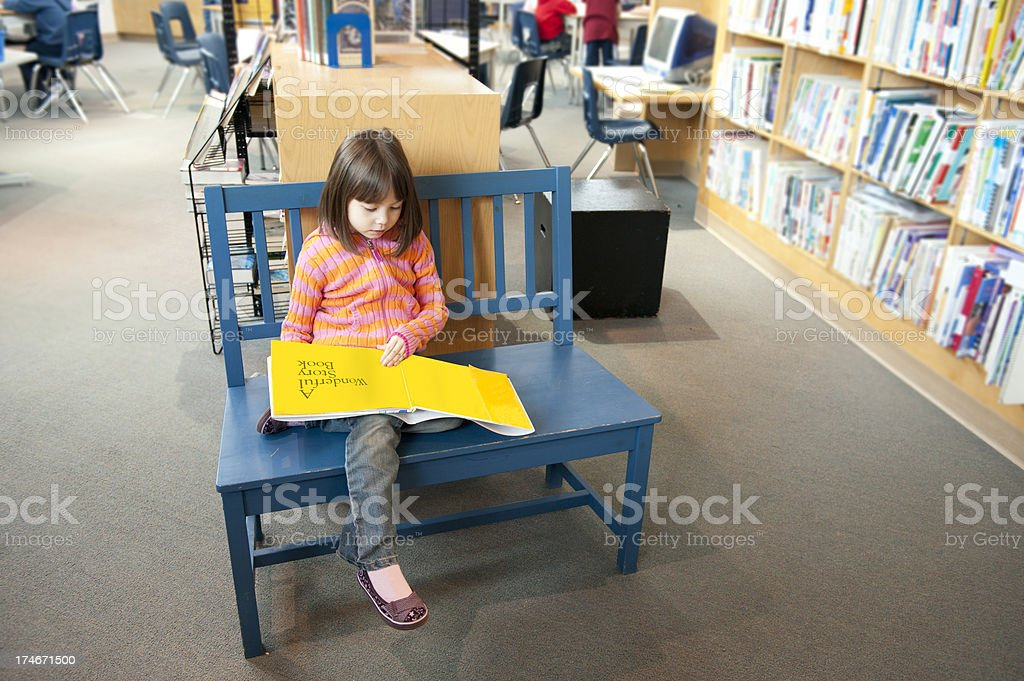 Young Girl Reading Book royalty-free stock photo