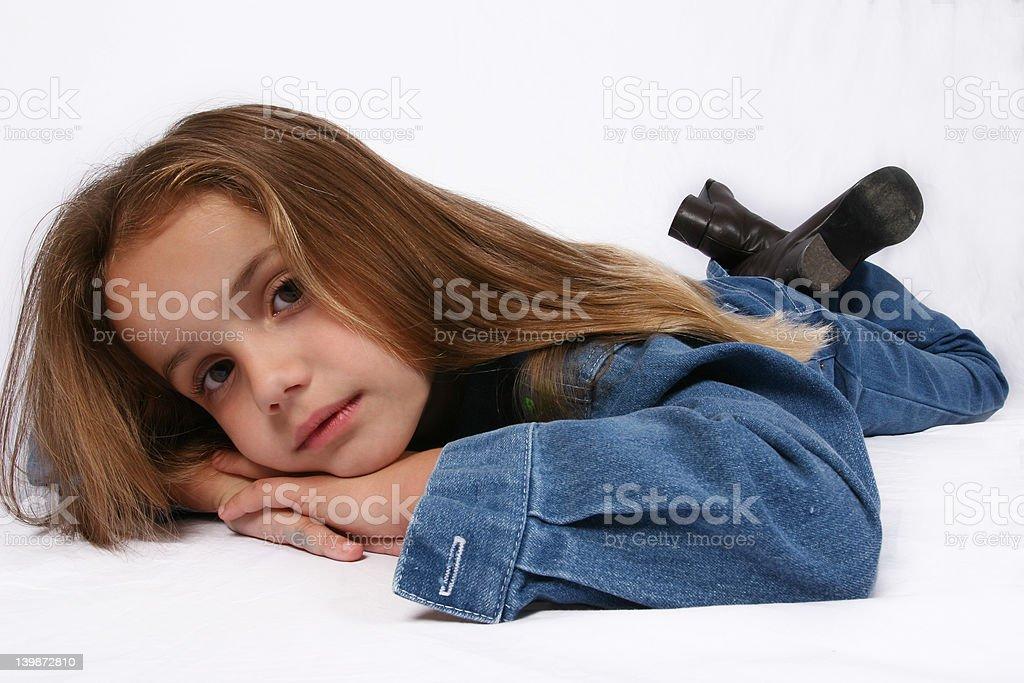 Young girl relaxing stock photo