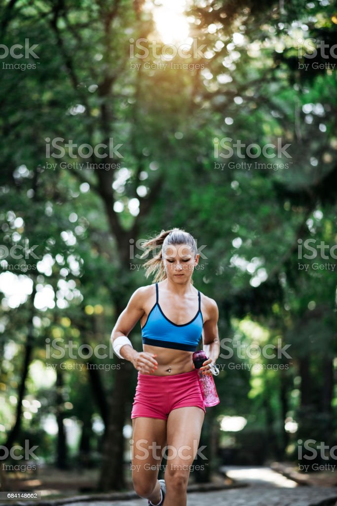 Young girl runner foto stock royalty-free
