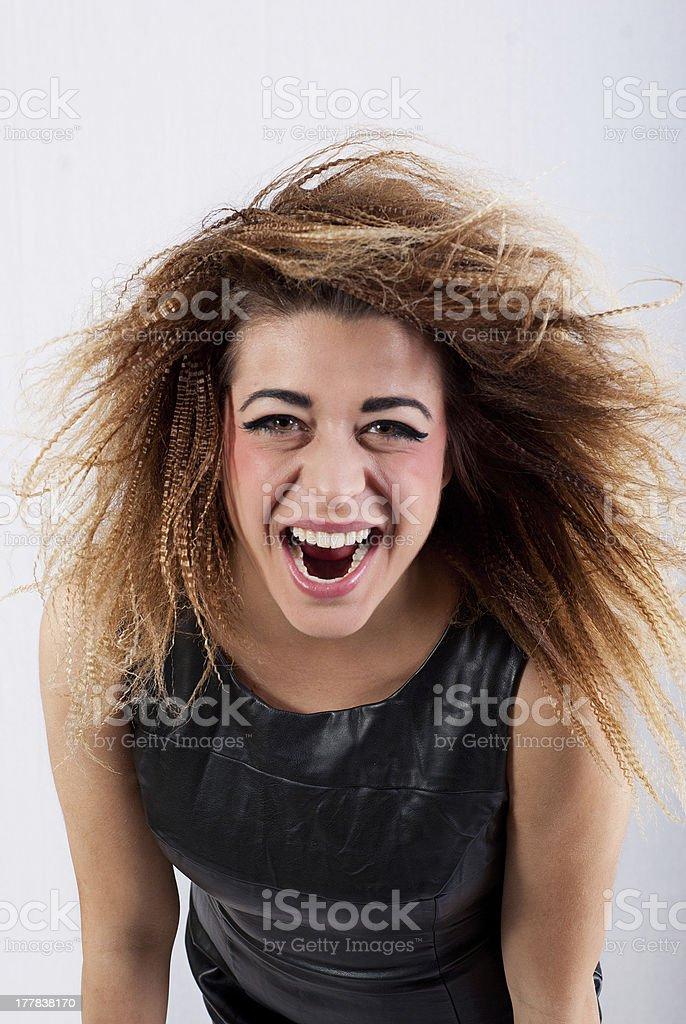 Junges Mädchen schreit – Foto
