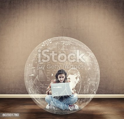 909927050 istock photo Young girl search a solution 602331780