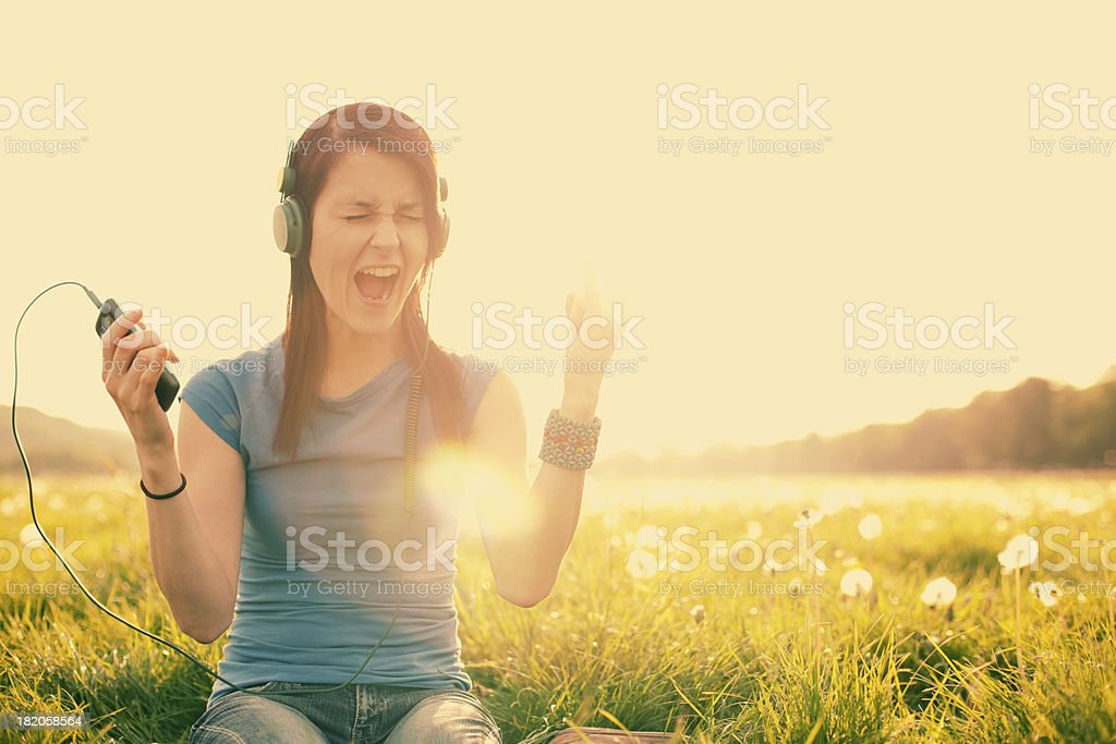 Young Girl Singing stock photo