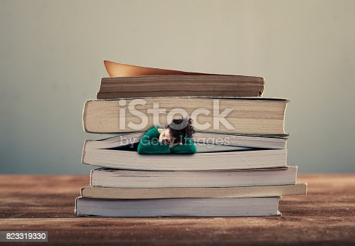 508126619istockphoto Young girl sleeping between 823319330