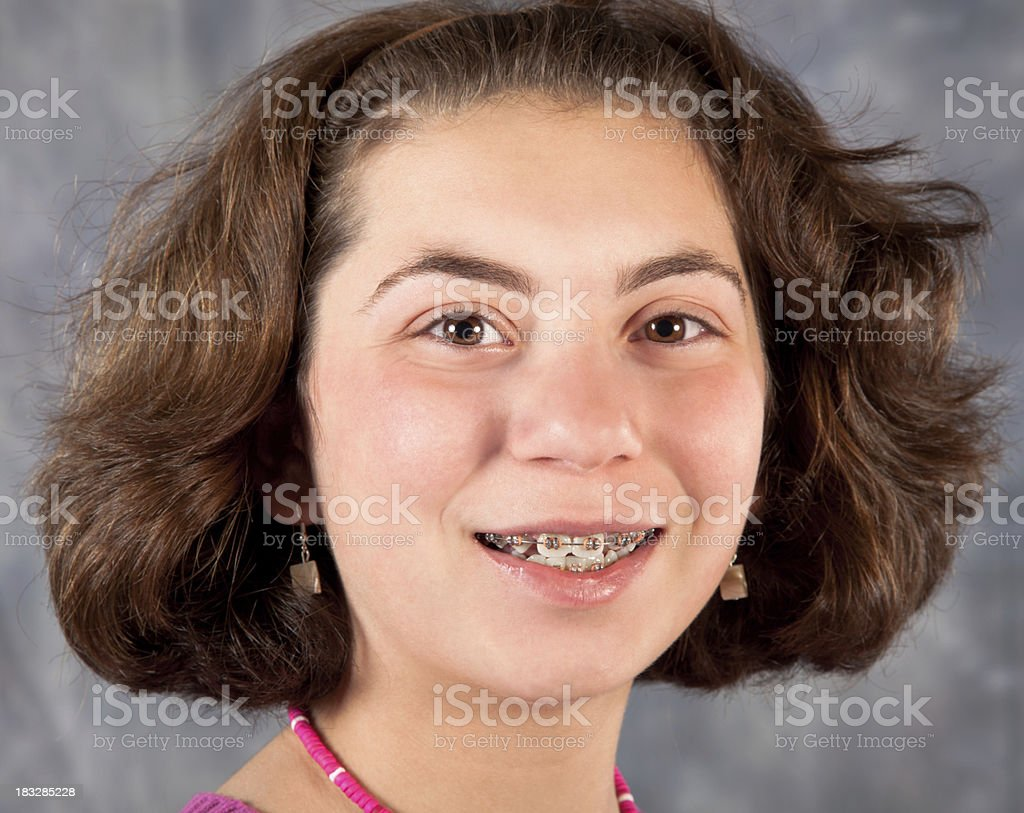 Young girl smiling royalty-free stock photo